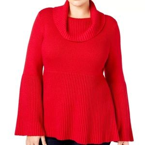 NWT Style & Co Cowel Neck Bell Sleeve Sweater